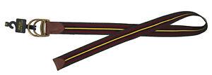 New Polo Ralph Lauren Belt!  Maroon Green Navy & Yellow Repp Stripe  Cotton