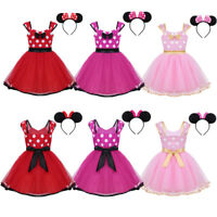 Baby Toddler Kid Girl Minnie Mouse Fancy Costume Xmas Party Tutu Dress Up Outfit