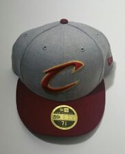 afc9f298363 Cleveland Cavs Era 59fifty Heather Gray maroon Brim Fitted Hat Size 7 3 8
