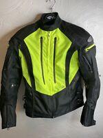Joe Rocket Atomic 5.0 Women's Textile Motorcycle Jacket Black Yellow Size M.