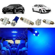 7x Blue LED lights interior package kit for 2010-2013 Mazda 3 MT3B