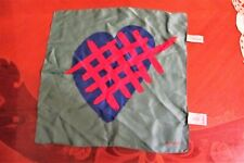 MENS PAUL SMITH SILK HANDKERCHIEF HEART THEME TURQUOISE NEW