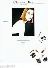 PUBLICITE ADVERTISING 016  1982  Christian Dior maquillage vernis rouges à lèvre