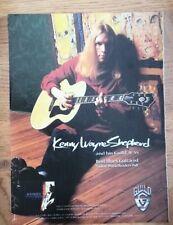KENNY WAYNE SHEPHERD Guild Guitars magazine ADVERT / Poster 11x8 inches