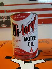 Vintage Rare  Hi-Torque Motor Oil Can * One Quart * 30/50 * Full Can *