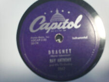 """Ray Anthony """"Dragnet/ Dancing In the Dark"""" Capitol10"""" 78"""