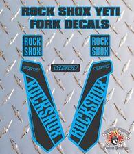 ROCK SHOX YETI FORK Stickers Decals Graphics Mountain Bike Down Hill MTB BLUE BK