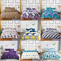 Duvet Quilt Cover Pillowcase Bedding Set Single Double King Size UK All Size New