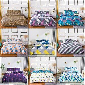 Duvet Quilt Cover Pillowcase Bedding Set Single Double King Size UK All Size New