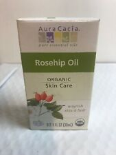 New Aura Cacia Skin Care Organic Rosehip Oil 1 fl oz (30 mL)