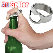 Idea Gift Cool Father's Day Super Novelty Bottle Opener Stainless Steel Ring