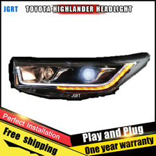 For Toyota Highlander Headlights assembly 2015 2016 Bi-Xenon Lens Beam HID KIT