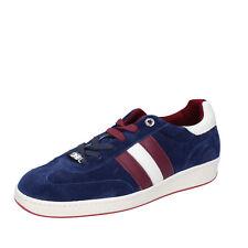 scarpe uomo D' ACQUASPARTA 41 EU sneakers blu camoscio AB872-D