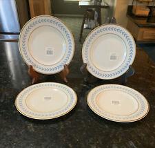 4 NewSyracuse China Old Ivory Sherwood Blue Laurel Bread & Butter/Dessert Plates