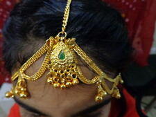 ethnic bridal Gold chain Matha Patti head piece Belly Dance Maang Tikka Indian