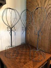 Set of 3 Vintage Wire Hat Stand Hat or Wig Display 20�