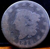 1819 Large Liberty Head One Cent Piece (Coronet Head)-(Rare)
