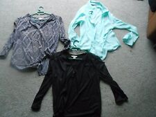 h & M & Primark blouses / tops   1 mint green 1 black 1 black with pattern new