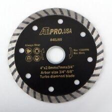 "4"" Diameter Turbo Wet or Dry Circular Diamond Tile Cutting Cut Saw Blade"
