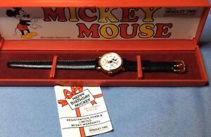 Bradley Vintage Disney Happy Birthday Mickey Wind Up Watch Regis Ed. With Case