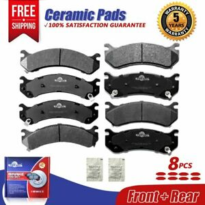 Front &Rear Ceramic Brake Pads For Silverado 1500 2500 3500 HD GMC Yukon XL 2500