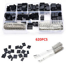 620PC Male Female Dupont Wire Jumper Pin Header Connector Housing Assortment Set