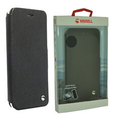 New Krusell Malmo Flipcase Cover Black for Apple Iphone 6 Plus / 6S Plus Boxed