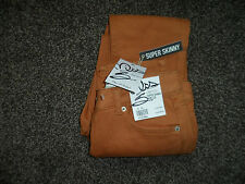 Brand New Miss Selfridge 'Superskinny' Brown  Jeans Size 8 - RRP £38 FREE UK PP