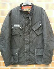 Mens Barbour International Quilted Down Waxed Jacket Coat Size Large
