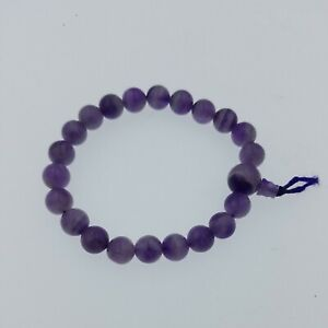 Natural Amethyst Prayer Beads Bracelet Buy 3 Ship Free