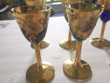 Mini Cordials Gold Overlay Set Of 6