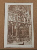 Antique architects print St Marys Church Stamford Chancel Scree The Builder 1891