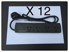 12 x NEW 4 WAY OVERLOAD PROTECTED POWER BOARD - 4 OUTLETS - BULK BUY x 12 UNITS