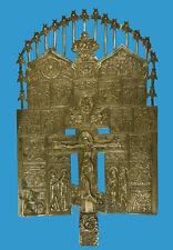 Eccezionalmente grande casa Croce Bronzo-icona Russia 18./19. secolo