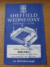 09/10/1968 Sheffield Wednesday v Chelsea  (Team Changes)