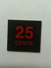 Midway Arcade Coin Door Insert Pairs - 25 cents