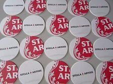NEW 20 Stella Artois Bar Chalice Glass Beer Coasters Belgium mat lift sign star