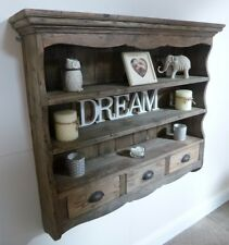Farmhouse Style Wooden Wall Rack - Rustic Look