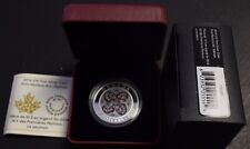 2014 $10 Fine silver- First Nations Art - Salmon - w/Cao and Box