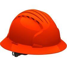 JSP Hard Hat Full Brim Vented with 6 Point Ratchet Suspension, Orange