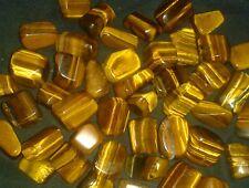 Golden Tigers Eye Willpower Gemstone Tumble stone Healing Chakra 2-3cm reiki