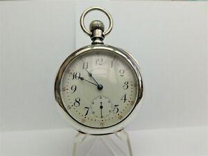 "Coin Silver Waltham pocket watch, 2 tone 17 jewel, model 1892 ""P S Bartlett"""