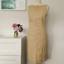 JAEGER Dress Size 10 CAMEL | SMART Occasion WEDDING Cruise RACES WOOL SILK
