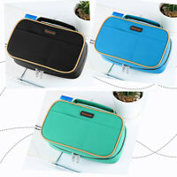 Homecube Big Capacity Pencil Case Brush Box Makeup Pouch Student Storage Pen Bag
