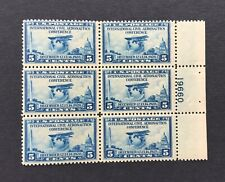 mystamps  US 650 plate block, 5 cent Aeronautics 1928, Mint, OG