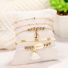 5 Pcs Conch Tassel Simulation Pearl Beads Beaded Bracelets Bangle Gift one