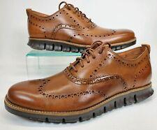 Cole Haan ZERO Grand Wingtip Oxford Shoes C24964 British Tan Brown Mens Size 7.5