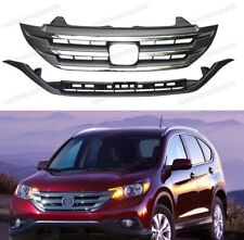 Front Replacement Upper & Lower Bumper Grills Grilles for Honda CRV 2012-2014