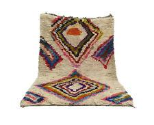 Moroccan vintage rug 4' x 7' Boucherouite rug Boucherouit, oriental Berber rug