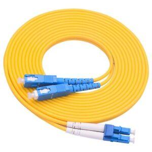 3m LC-SC Fiber Patch Cord Duplex Single Mode 2.0mm G652D Jacket Optical Cable